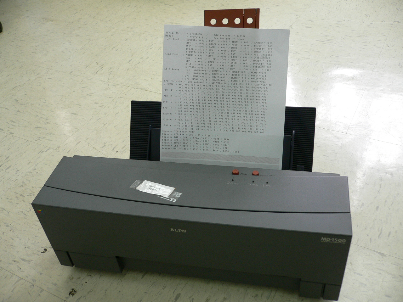ALPS MD-1500 MD 1500 Thermal Water Decal Sticker Printer