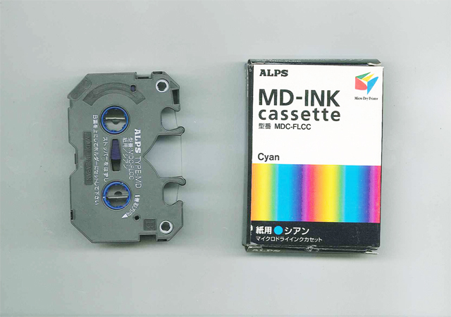 MDC-FLCC Alps Cyan MicroDry (MD) Ink Cartridge  MDC-FLCC