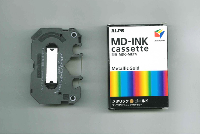 MDC-METG Alps Metallic Gold MicroDry (MD) Ink Cartridge