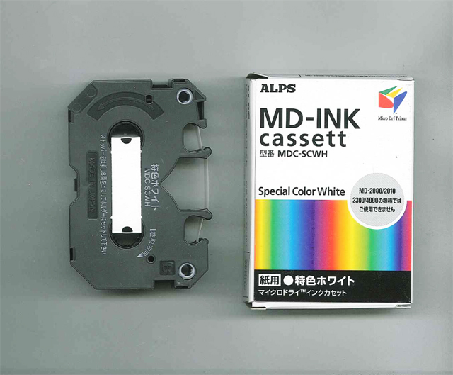 MDC-SCWH Alps White MicroDry (MD) Ink Cartridge